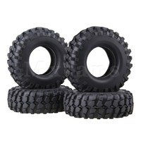 4 X Rubber Tyre 108mm Tires Sponge Insert RC 1 10 Black Rock Crawler