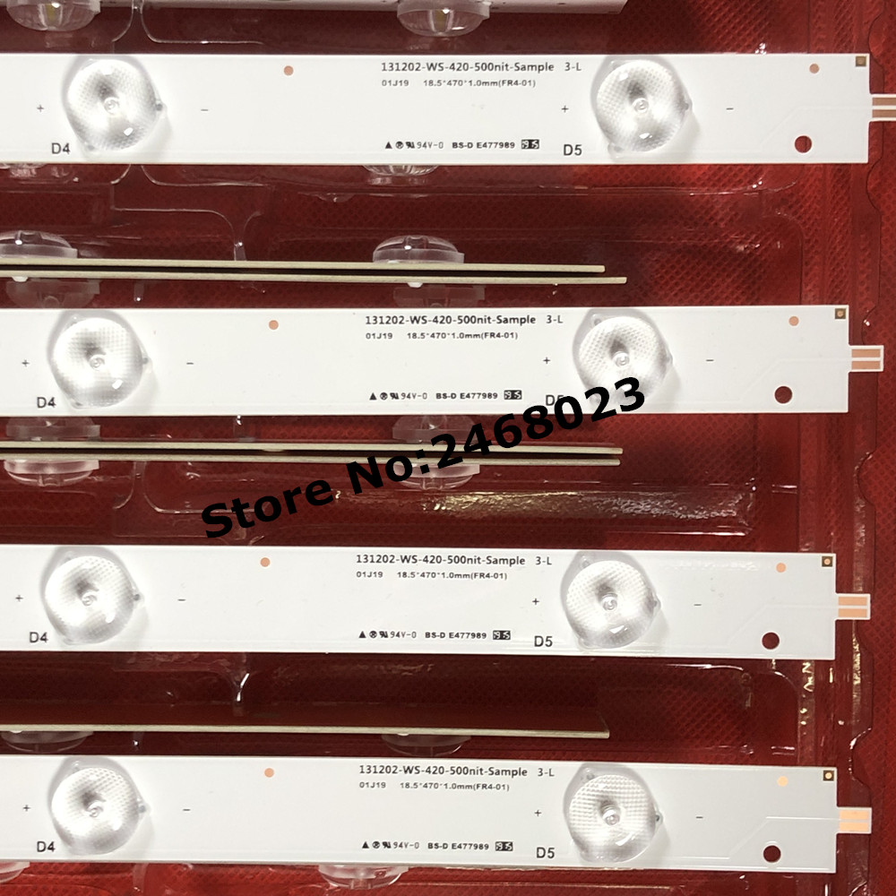 1set=8 pieces for 42inch LED Backlight 131202-WS-420-500n1t-Sample 3-R 131202-ws-420-500nit-sample 3-L