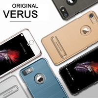 Verus originais para apple iphone 7 7 plus case ultra fina slim fit de metal escovado rígido de volta casos capa kickstand para iphone 7