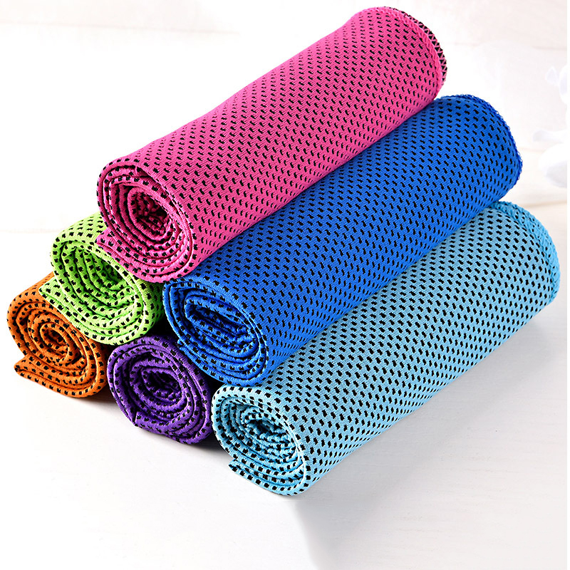 Sale 30*90cm Double Layer Ice Towel Cooling Cold Sense Sports Ice Towel Sweat Absorbent Ice Silk Ice Towel