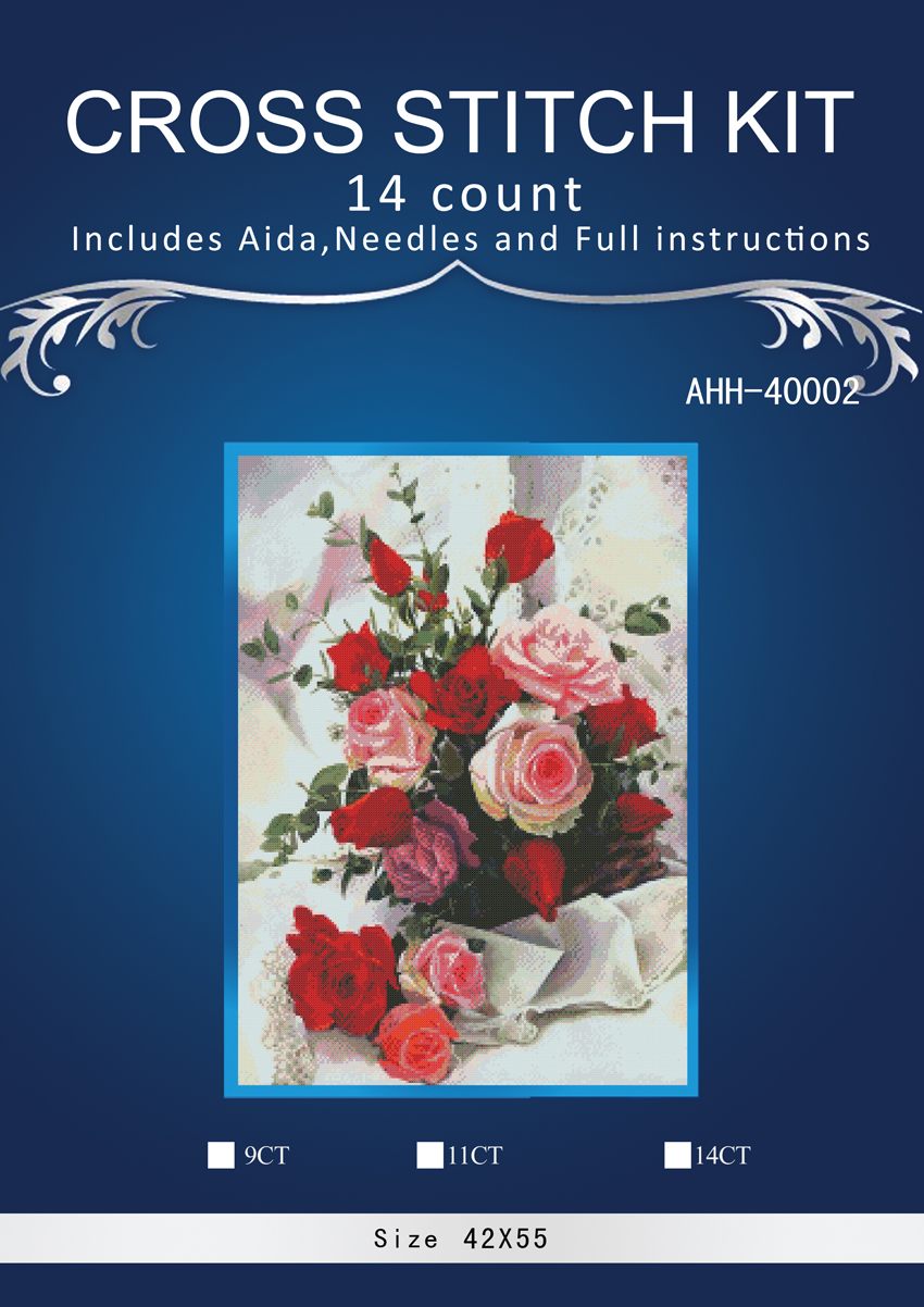 Arts,crafts & Sewing Hospitable 1red Rose Counted Cross Stitch 14ct Cross Stitch Set Chinese Cotton Cross-stitch Kit Embroidery Needlework Similar Dim Anchor Soft And Light