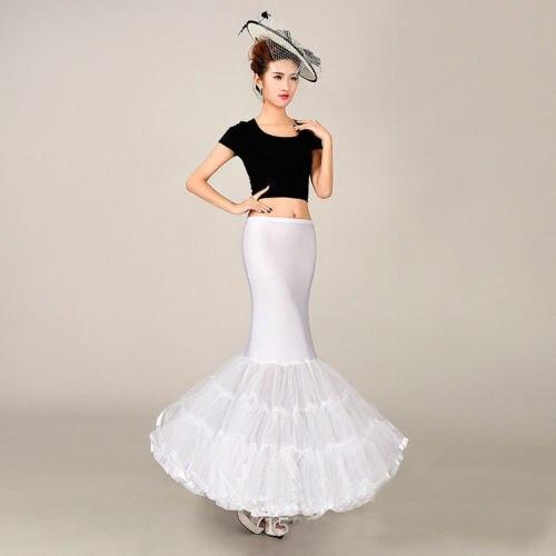 1 Hoop Cheap Long Wedding Bridal Petticoat Crinoline Ball Gown Skirt Rockabilly Tutu Underskirt Slips Wedding Accessories Jupon