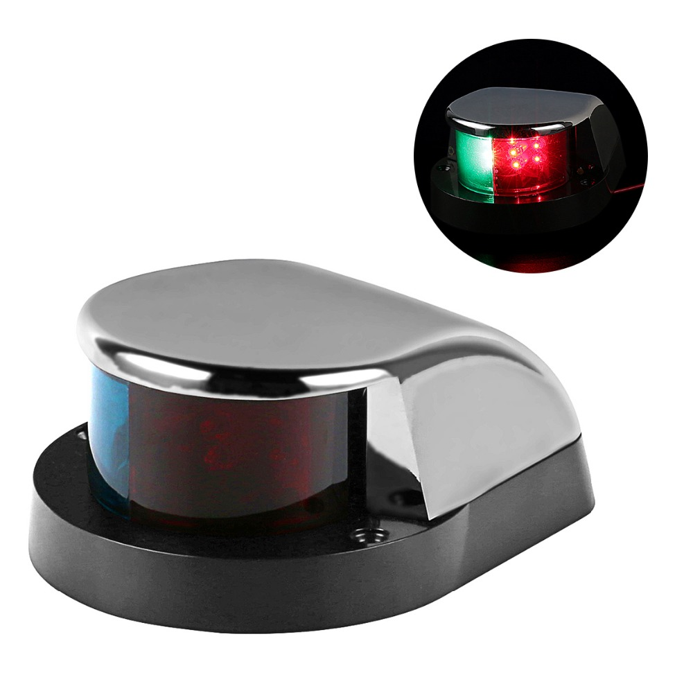 Navigatie Verlichting Us 21 99 Lagute Boot Marine Led Navigatie Verlichting Navigatie Licht Lamp Rvs Shell Rood Groen Led Voor Boot Ponton Yacht In Lagute Boot Marine Led