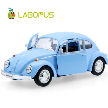 lagopus Toy Car Mini Beetle Vintage Car Zinc Alloy Model Car Sound&light Pull Back Toy Doors Opened Collection Gift for Children 2016 unique european style taty tattoo glitter body art golden temporary tattoo metallic tongue flower bracelet tatoo designs