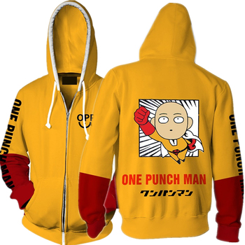 Anime ONE PUNCH MAN 3D Print Hoodies Sweatshirts Cosplay Costumes Hooded Casual Coat Jacket
