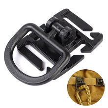 Tactical MOLLE Plastic Clamp with Rotatable D Buckle Military Airsoft Vest Hanging Buckle Outdoor Hunting Accessories Tan/Black(China)