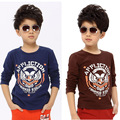 The boy long sleeve shirt T-shirt large children Childrens Boys spring 2015 new backing underwear vest in autumn