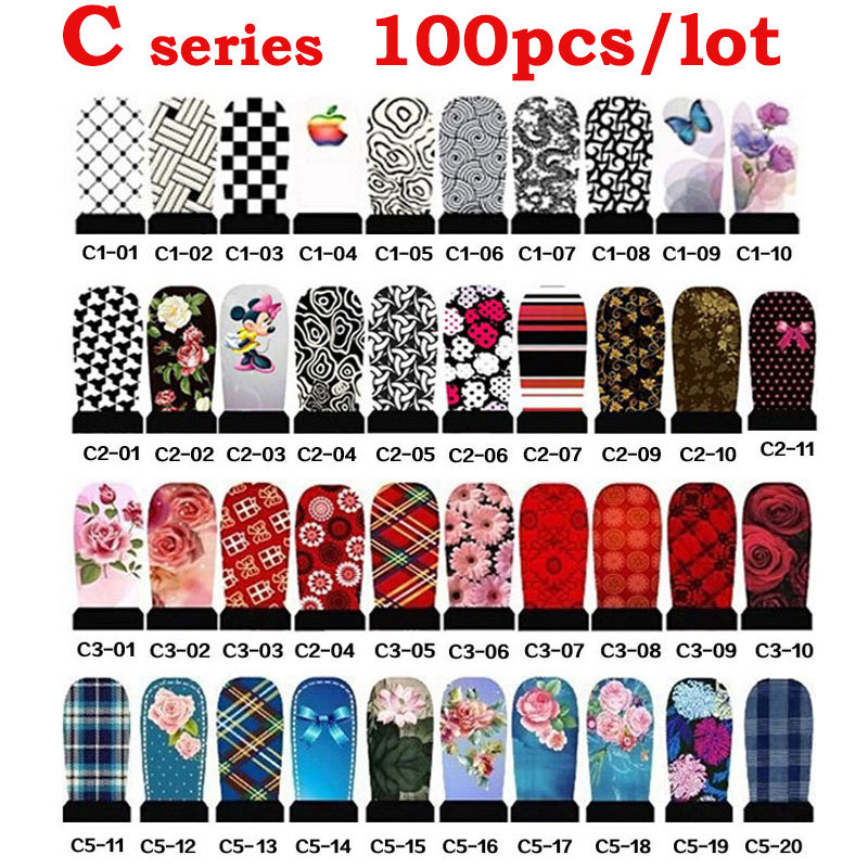 100sheets Water Transfer font b Nail b font Art Stickers Decals Flowers Design font b Nail