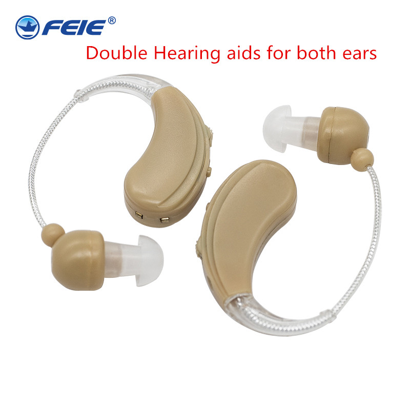 A Pair of Analog Rechargeable Hearing Aid Behide the Ear S-109S aide auditive Drop Free ShippingA Pair of Analog Rechargeable Hearing Aid Behide the Ear S-109S aide auditive Drop Free Shipping