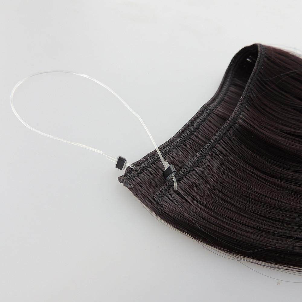 Xi.rocks 50g 20inch Halo Elastic Reb Hair Extension Syntetisk runt - Syntetiskt hår - Foto 4