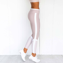 Women Slim Fitness Leggins Casual Workout Pink Butt Lifting Pants White Striped Leggings Activewear Yogaing GYMs Booty Capri