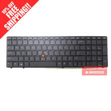 New Replacement English FOR HP FOR HP EliteBook 8560w 8570w laptop keyboard backlight benchmark
