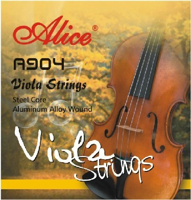 Alice A904 Viola Strings Steel Core Aluminum Alloy Wound  Nickel Plated Ball-End