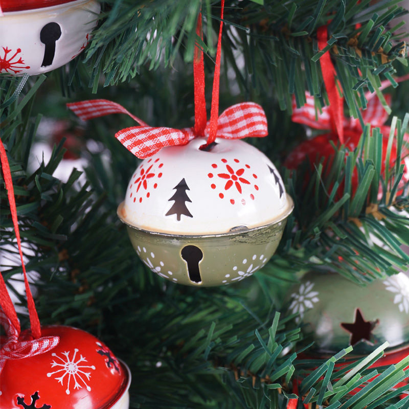 Jingle Bell Tree Decorations Magnificent Christmas Decoration For Home 6Pcs Red Green White Metal Jingle Design Ideas