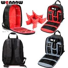 Wennew DSLR Мешок Фотографии Камера рюкзак чехол для Nikon D5600 D5500 D5300 D3200 D3100 D810 D5200 D5100 D850 DF D80 D90