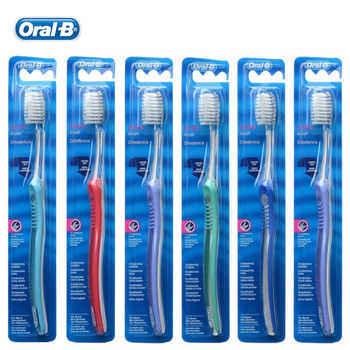Oral B Trimmed for Braces Toothbrush Teeth Whitening Deep Clean Teeth Brush for Orthodontics 5 Color Random Delivery 6pcs=1 pack