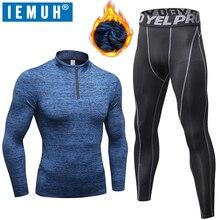 IEMUH New Winter Thermal Underwear Men  Long Johns Set Elast