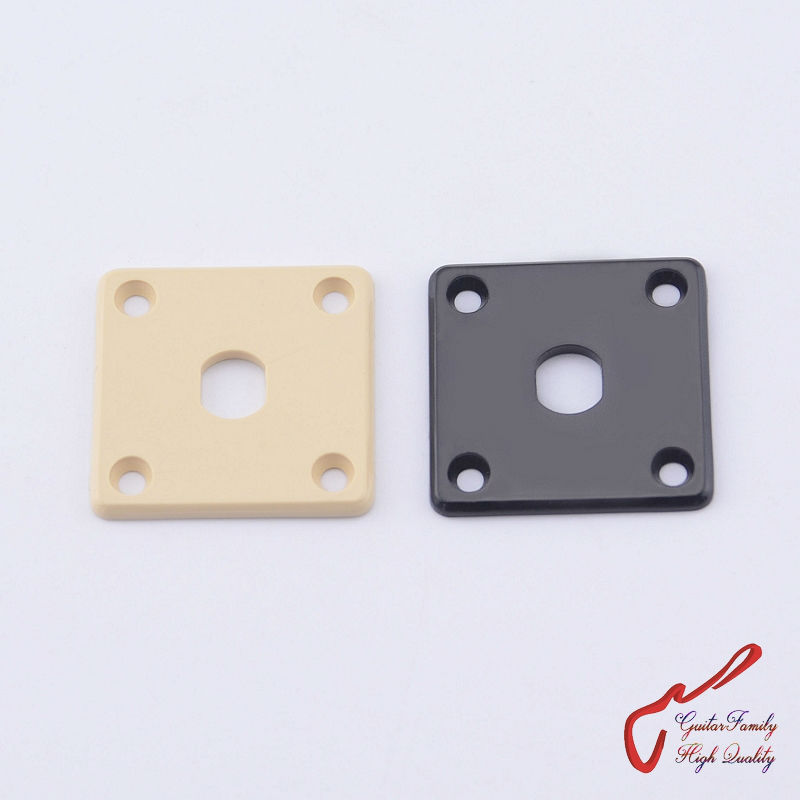 1 Piece GuitarFamily Electric Guitar Output Jack Socket  Square Plastic Plate  ( #0094 ) MADE IN KOREA