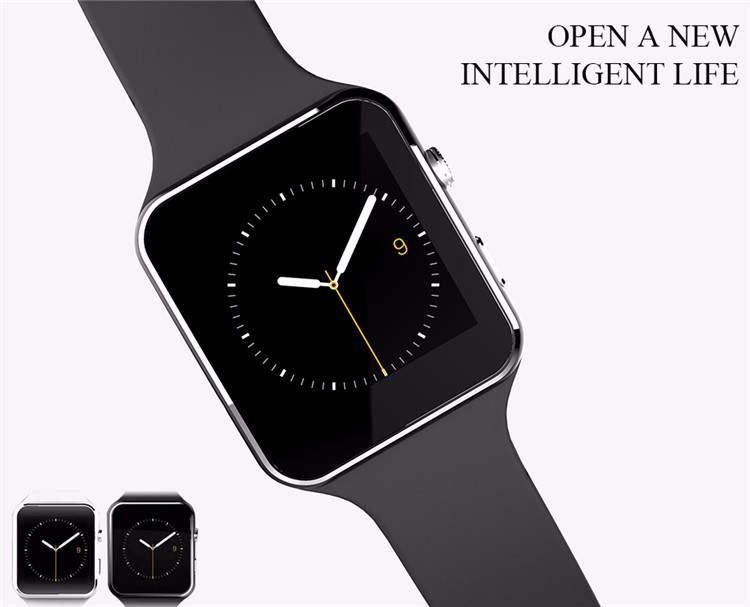 Fashion Black Sport Bluetooth Smart Watch For Android IOS Phone Call SIM Card Intelligent Watches 1.54\'\' HD LCD OGS Touch Screen (1)