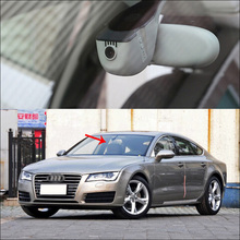 Wholesale prices BigBigRoad For Audi A7 A8 2014 2015 2016 APP Control Car wifi DVR Video Recorder Novatek 96655 black box Keep Car Original Style