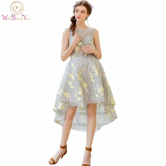 Yellow dresses short front long back