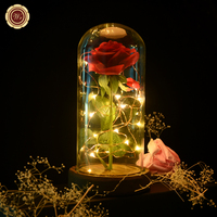 WR Valentine S Day Red Rose In A Glass With Dark Base Beauty And Beast With