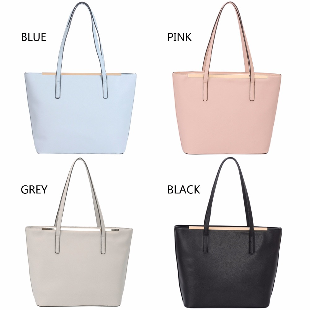 666d256ac7ce נשים   s תיקים DAVIDJONES women handbag faux leather female shoulder bags  large lady solid tote bag girl brand shopping bag drop shipping