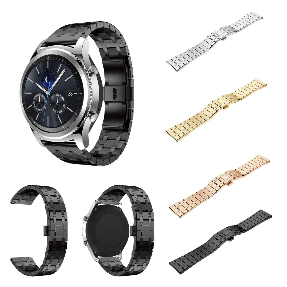 NEW Stainless Steel Watch Band Bracelet Strap For Samsung Gear S3 Frontier Classic Smart Watch Wrist Band 2018 Hot Accessory 18 colors rubber wrist strap for samsung gear s3 frontier silicone watch band for samsung gear s3 classic bracelet band 22mm