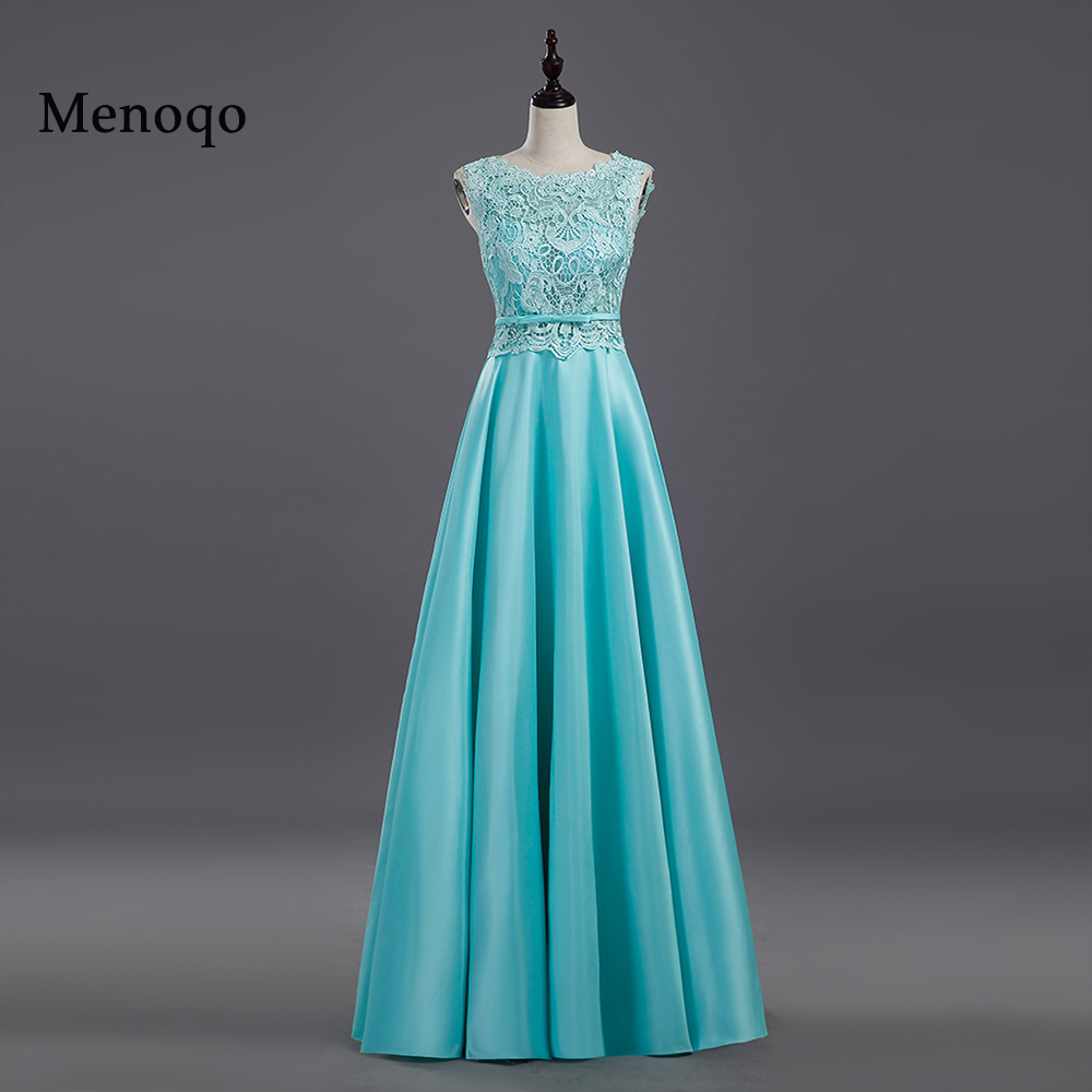 2018 New arrival party   evening     dresses   Long   dress   Vestido de Festa A-line lace satin gown sexy fast shipping