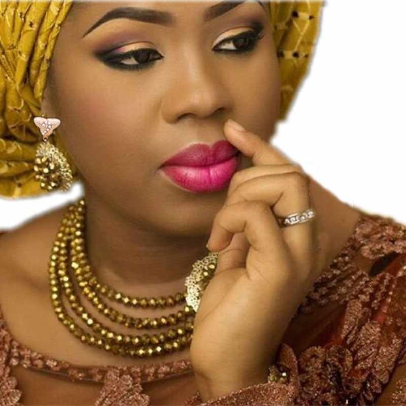 Gold Nigerian Wedding Dubai jewelry Set 4 Layers Simple Earrings Bracelet and Necklace Set Bridal Jewellery Set Free Shipping