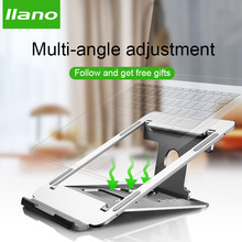 Silver Aluminum Laptop Stand Tablet Stand Universal for Apple MacBook Air Pro 11-15 inches Folding Adjustable Office Notebook(China)