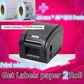 360B принтеры Штрих-Код этикетки Тепловой одежда принтер этикеток Поддержка 80 мм печати Получить Этикетки бумага 2 Рулон