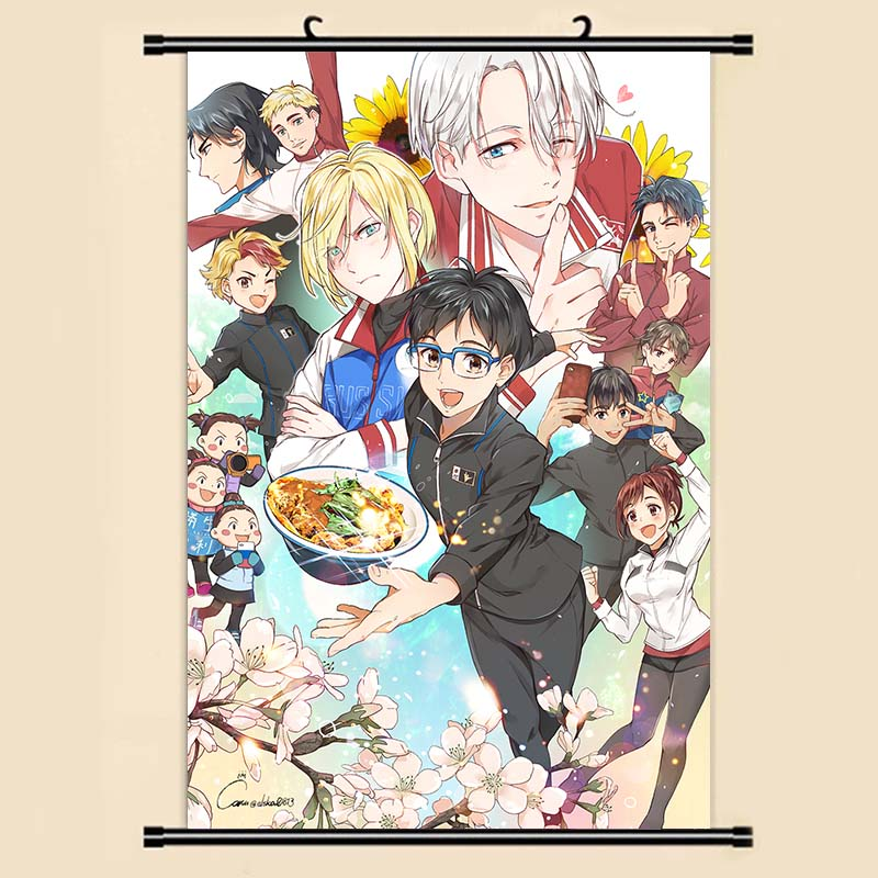 Us 379 5 Offanime Manga Yuri On Ice Wall Scroll Painting 40x60 Picture Wallpaper Stickers Poster 003 In Painting Calligraphy From Home