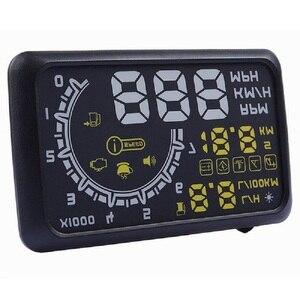 Image 3 - 5.5 pollici Auto HUD Head Up Display OBD2 II Sistema di Allarme di Velocità Eccessiva Proiettore Auto di Temperatura di Allarme di Velocità