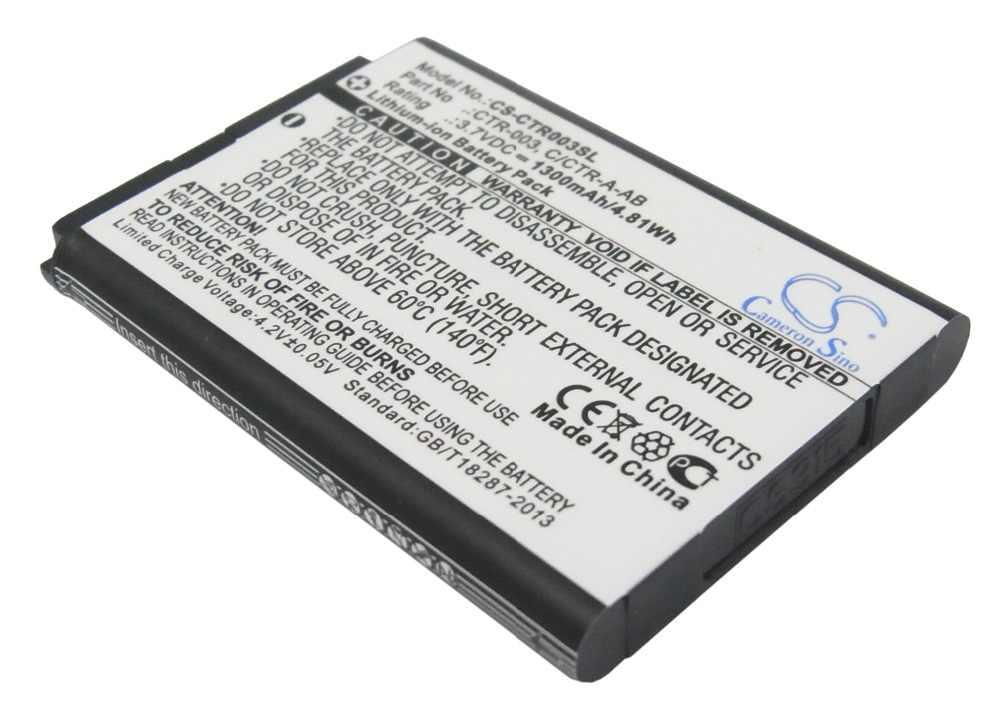 Cameron Sino 1300 Mah Batterij C/CTR-A-AB CTR-003 Voor Nintendo 3DS CTR-001 MIN-CTR-001 N3DS