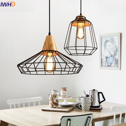 IWHD Style Loft Industrial Hanging Lamp Iron Vintage Lamp Pendant Lights Retro Black Hanglamp Light Fixtures Luminaire Lampen iwhd iron vintage pendant light fixtures loft style industrial glass hanglamp green kitchen retro lamp dining room luminaire