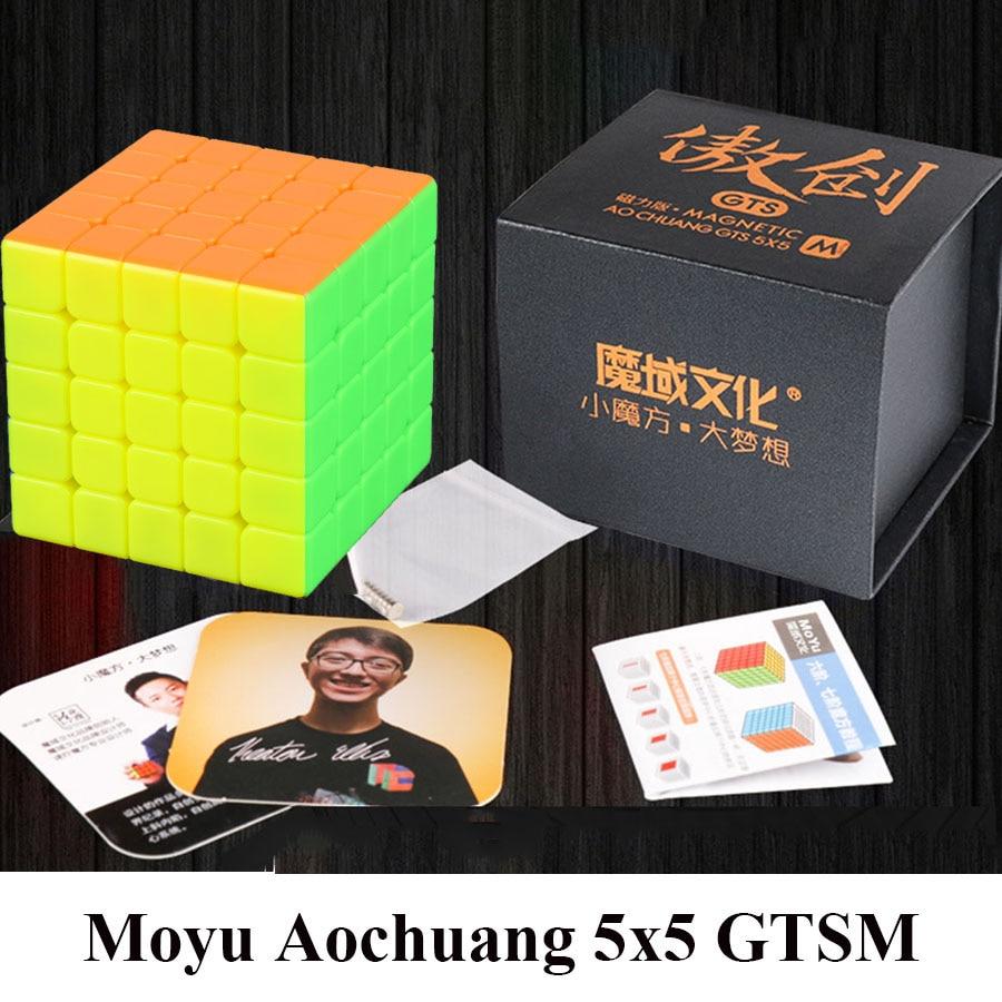 New MoYu Aochuang GTSM 5x5x5 Magnétique Stickerless Magic Cube Speed Puzzle Cube Jouets Pour Les Enfants