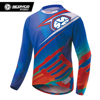 SCOYCO Motocross Suit Off Road MTB DH MX Racing Long Sleeve T Shirt Summer Breathable Riding Motocycle Clothing