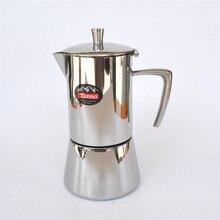 Edelstahl Moka topf 4 tassen/filterpatrone aluminium material mokka kaffeekanne kaffeefilter kaffeekanne filterung werkzeuge
