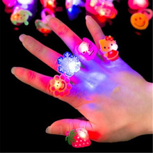 2017 new arrival childrens light toys children gifts LED flash ring cartoon with led lights