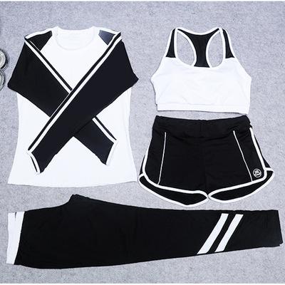 4 Piece Set Women Fitness Clothes