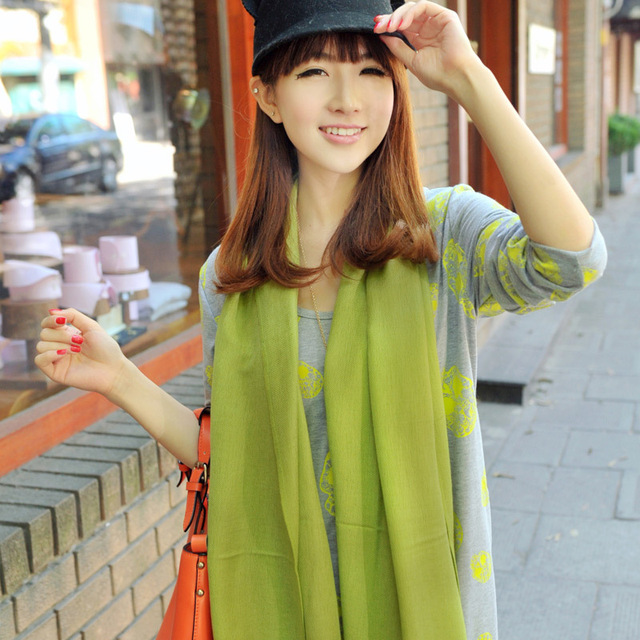 Tassel design long scarf silk scarf multicolour all-match lovers design general all-match scarf