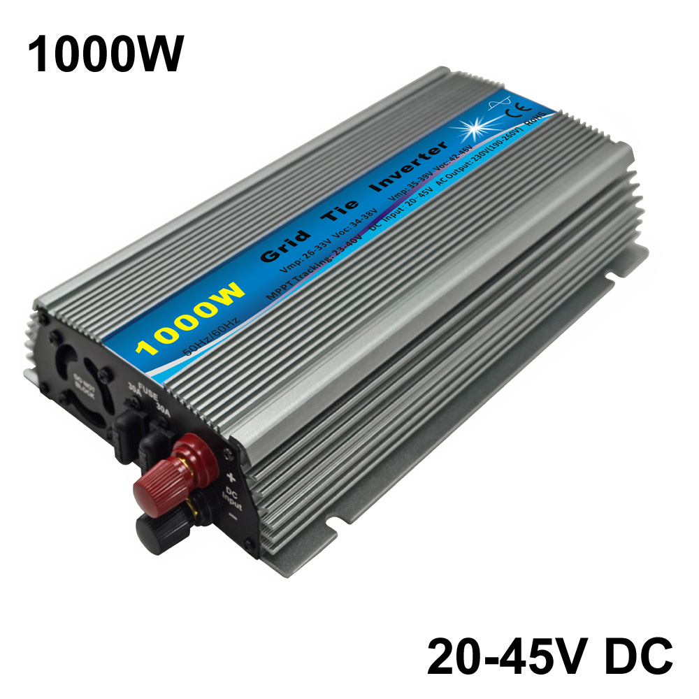 1000W 30V/36V Grid Tie Inverter MPPT function Pure Sine wave 110V OR 230V output 60 72 CELLS panel input on grid tie inverter1000W 30V/36V Grid Tie Inverter MPPT function Pure Sine wave 110V OR 230V output 60 72 CELLS panel input on grid tie inverter
