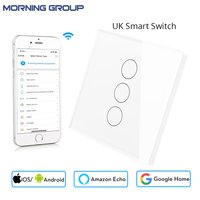 UK Power Socket Wifi Smart Wall Touch Switch Mobile APP Remote Control Touch Control Works With