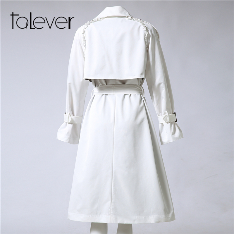 3a0326b22ac ... Autumn Winter Trench Coat for Women Adjustable Waist Slim Solid Black  Coat White Long Trench Female Outerwear Plus Size. 55% Off. 🔍 Previous.  Next