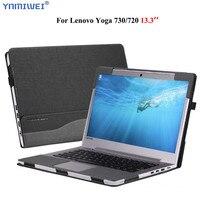 For Lenovo Yoga 730 13.3 inch Sleeve PU Leather Laptop Case For Lenovo Yoga 720 13 Detachable Magnet Protective Shell