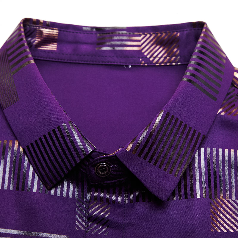 2020 Brand Casual Spring Luxury Plaid Long Sleeve Slim Fit Men Shirt Streetwear Social Dress Shirts Mens Fashions Jersey 2306 5