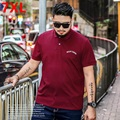 Summer business Big Size Polo Shirt XL polo Lapel fat elastic solid fat male Plus size  7XL 6XL 5XL 4XL