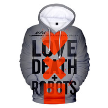 3D Print Character Love Death&Robots Hoodies fans Cool Sweatshirt Cozy Chic Young People Hooded Vogue Clothes Hip Hop Streetwear(China)
