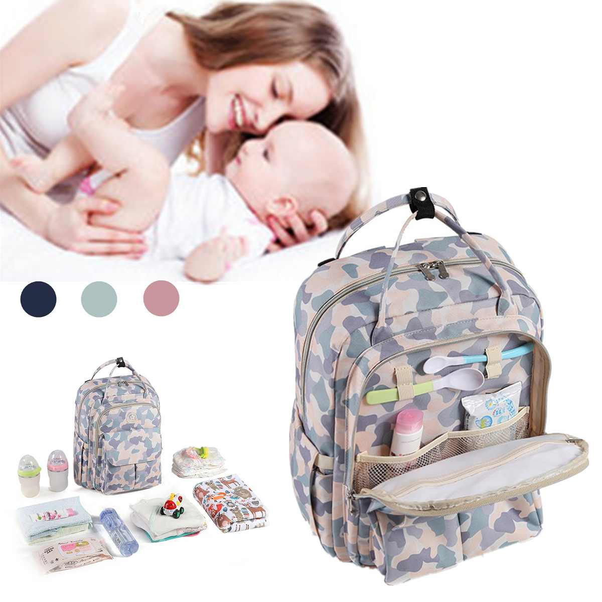 Diaper Bag Maternity Bag For Baby Nursing Large Capacity Waterproof Backpack For Mom Mummy Baby Bag Stroller Organizer Nappy BagDiaper Bag Maternity Bag For Baby Nursing Large Capacity Waterproof Backpack For Mom Mummy Baby Bag Stroller Organizer Nappy Bag